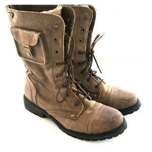 Roxy Seattleiv combat boots brown 8.5